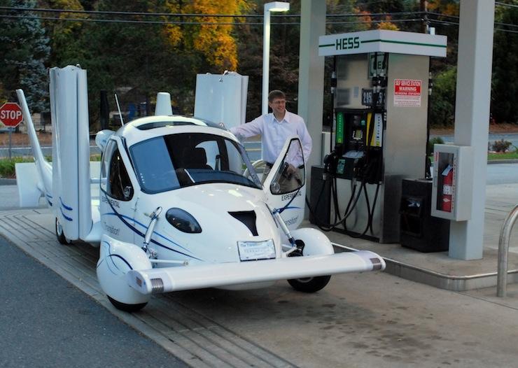 Terrafugia - autó üzemmódban meglehetősen feltűnő jelenség