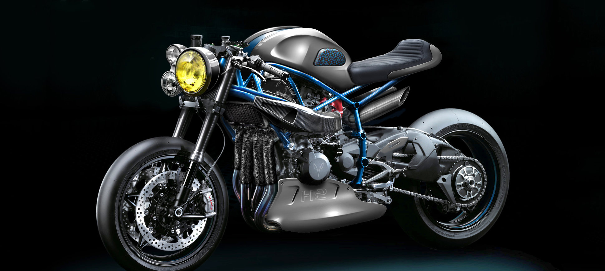 Kawasaki H2R by Gannet Design