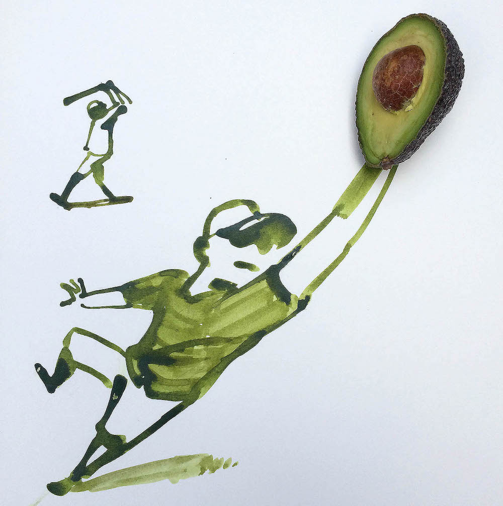 Avocado Baseball by Christoph Niemann