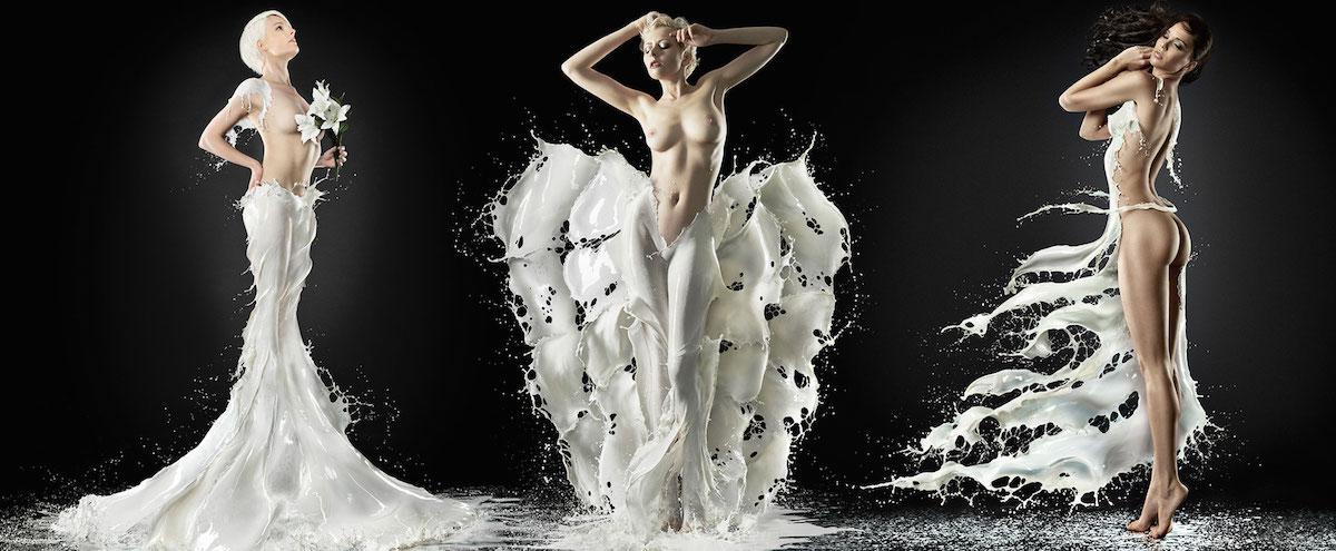 Milk Pinup by Jaroslav Wieczorkiewicz