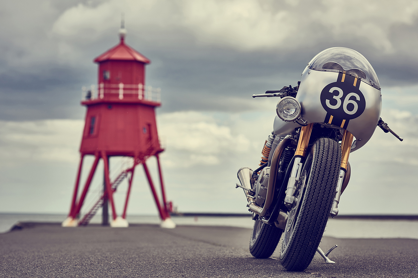 Barbour Triumph Thruxton by Down & Out Café Racers