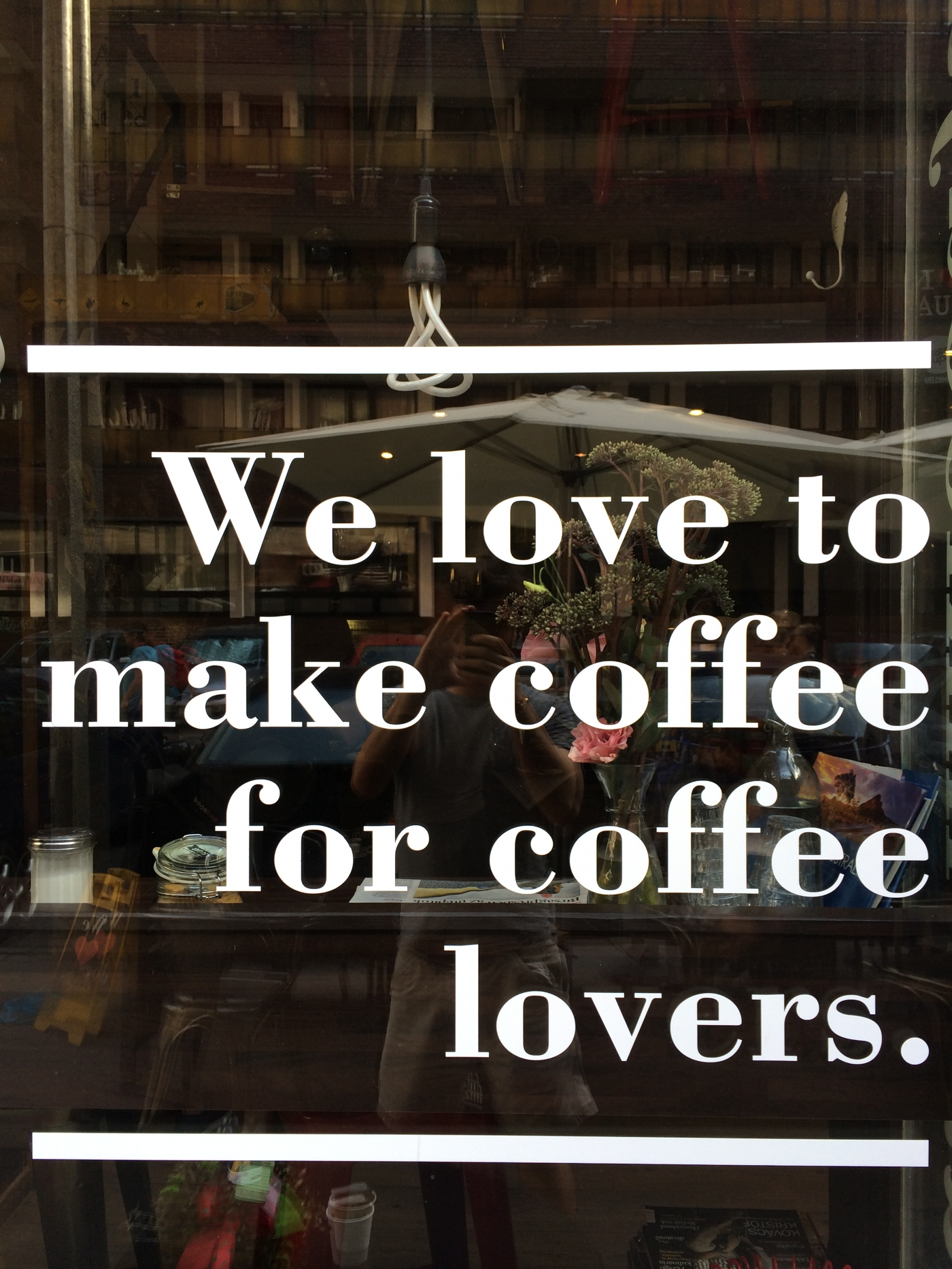 We love to make Coffee for Coffee Lovers