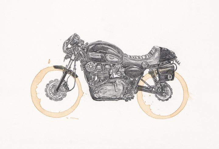 Triumph Thruxton by Carter Asmann