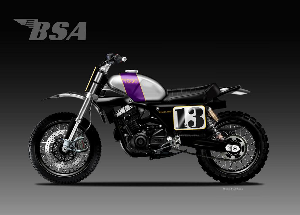 BSA Desert Sled 355 by Bezzi
