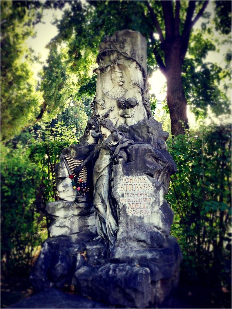 Johann Strauss síremléke.