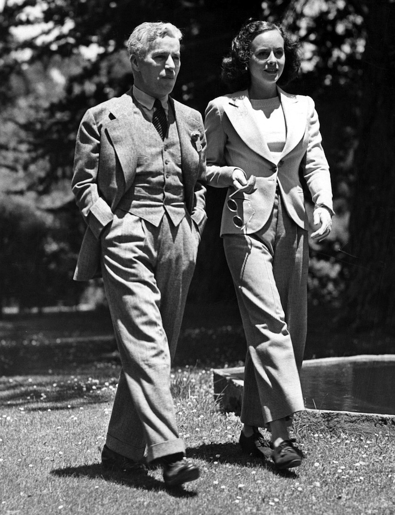 Charlie Chaplin és harmadik felesége Paulette Goddard