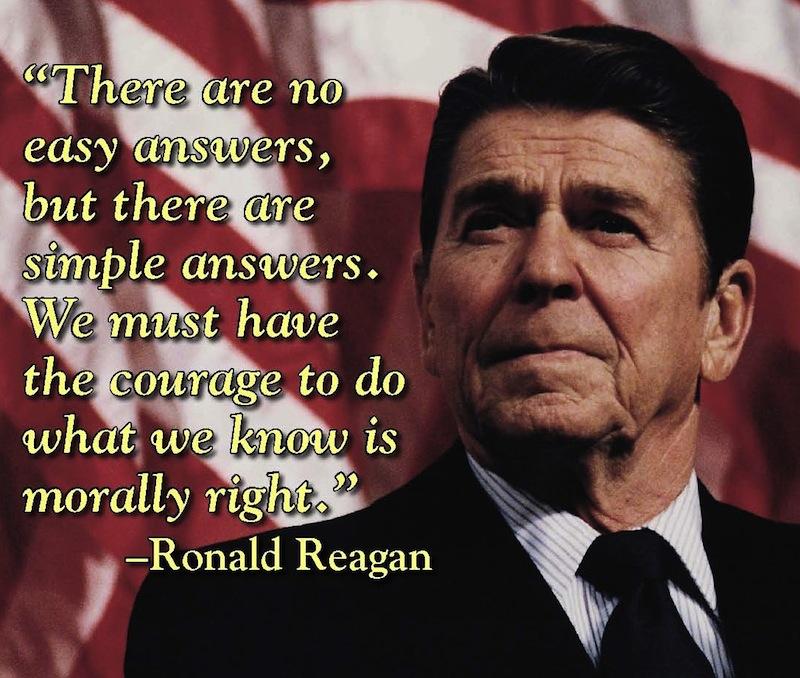 A kollektív apátiából Ronald Reagan rázza fel nemzetét.