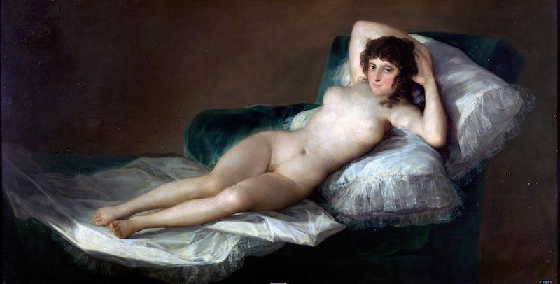 A levetkőzött Maja - Francisco de Goya