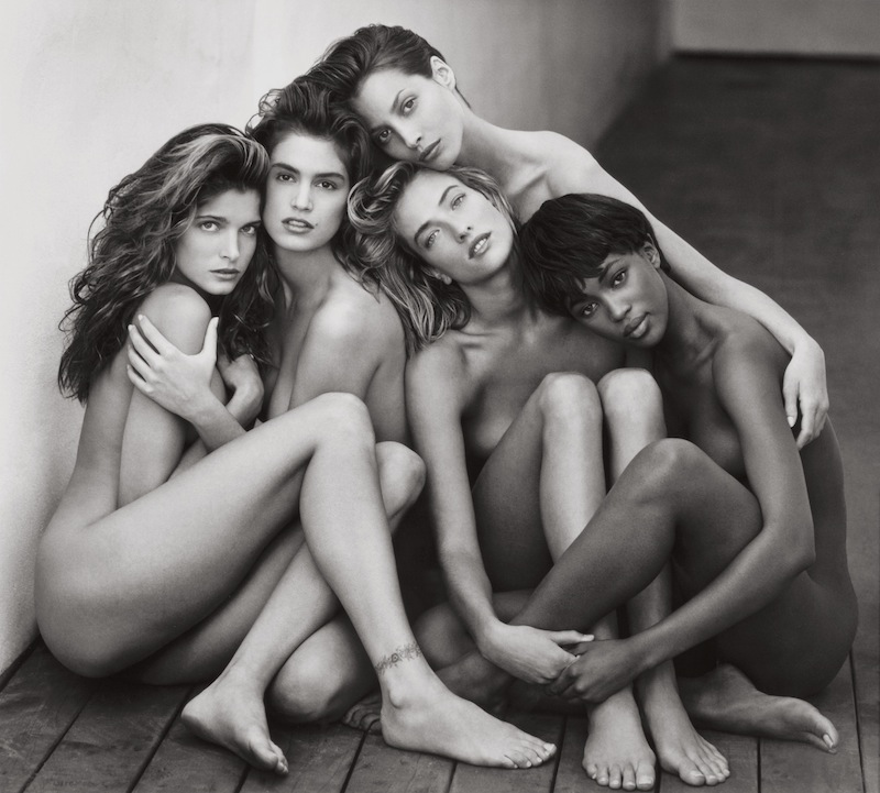 Herb Ritts: Stephanie, Cindy, Christy, Tatjana, Naomi - Hollywood, 1989.