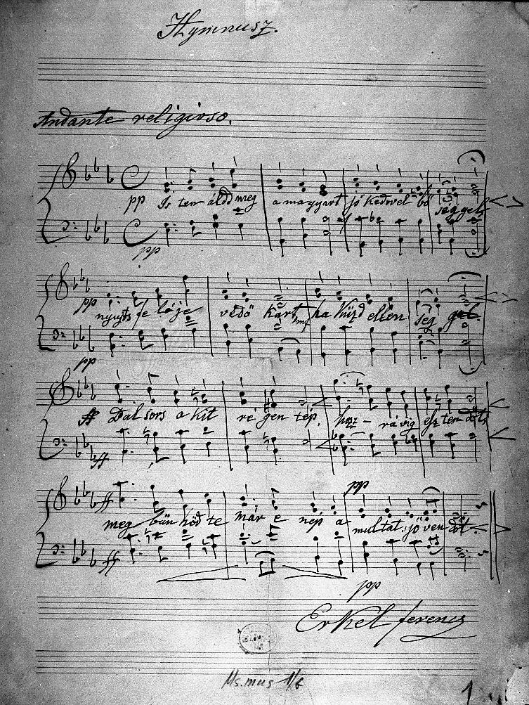 A magyar himnusz - Kölcsey verse, Erkel a zenéje
