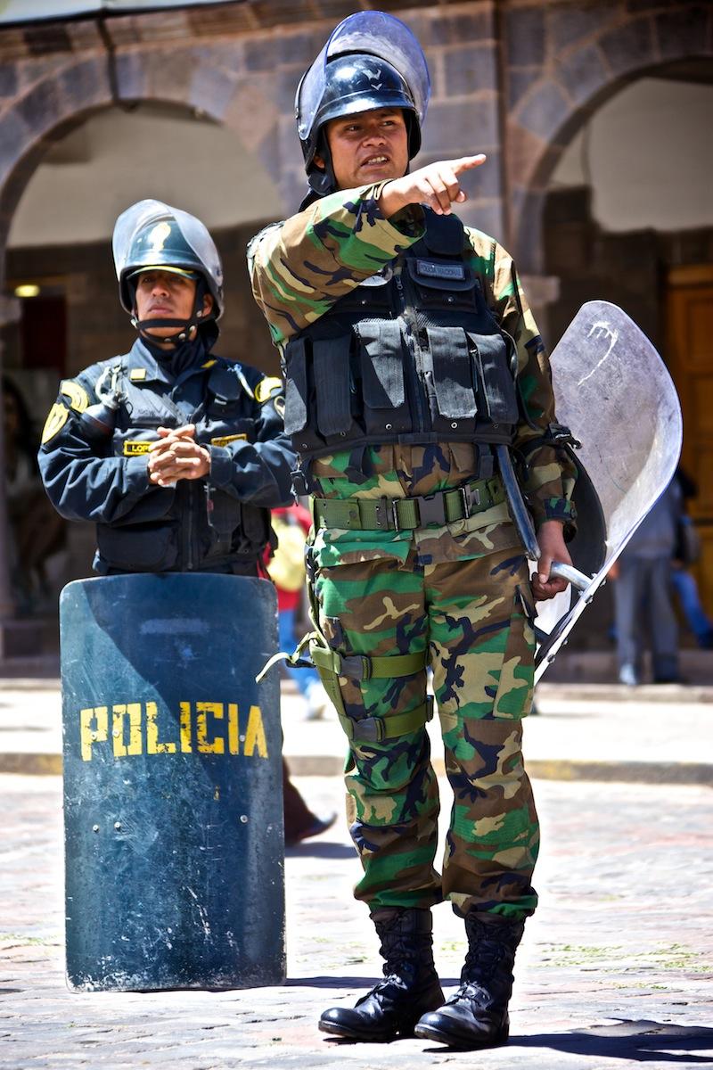 Tüntetés Peruban.