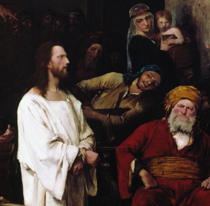 Munkácsy Krisztus Pilátus előtt részlet