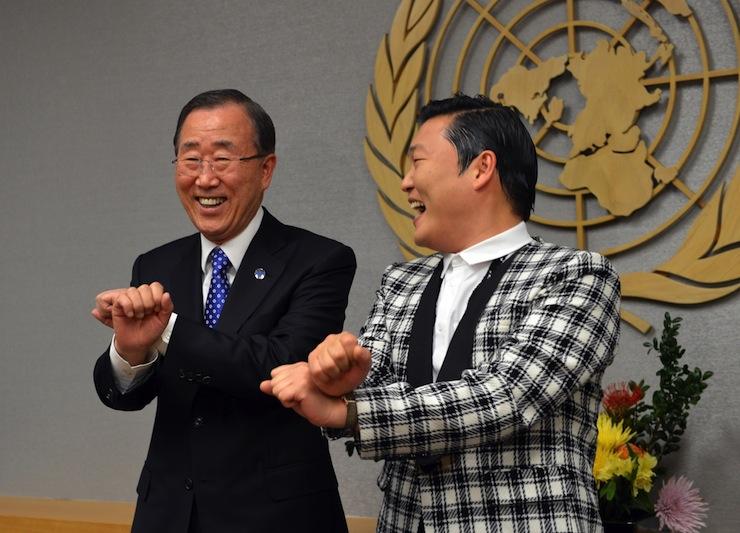 Psy az ENSZ főtitkárával