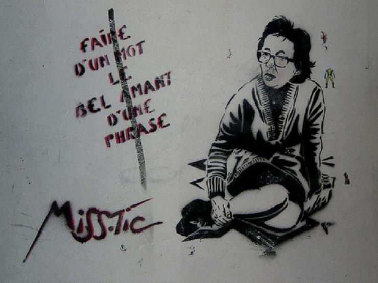graffiti Párizsban a szerző házfalán