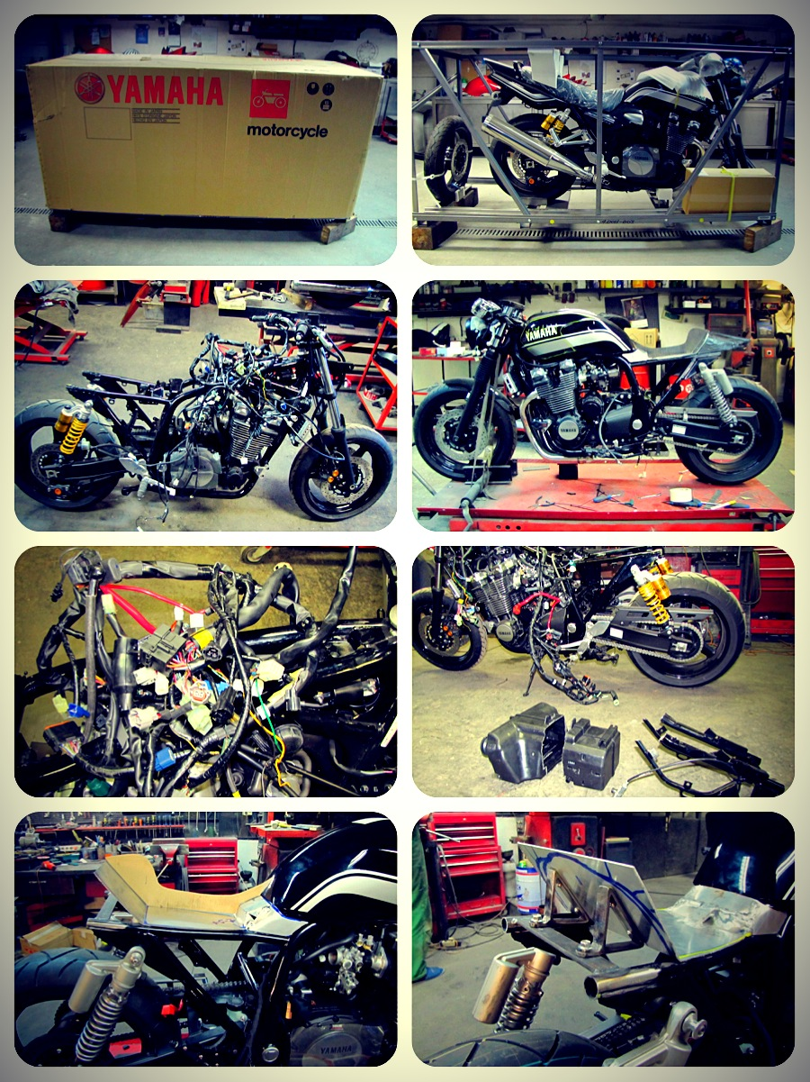 Az építés fázisai. (A montázs a Totalbike képeiből készült. Köszönjük!)
