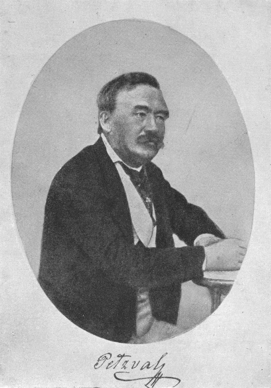 Petzval József (önarckép)