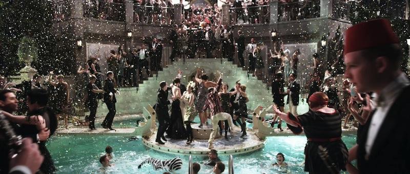 a Nagy Gatsby jelen feldolgozása is valósággal belefullad a látvány orgiába