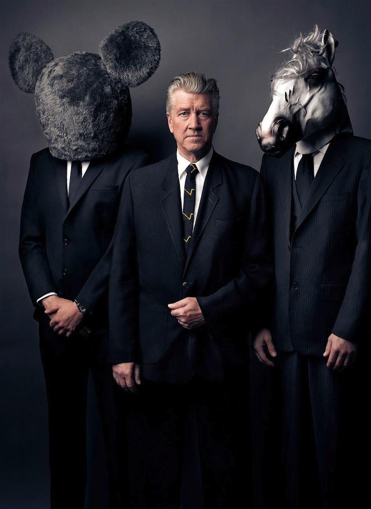David Lynch társaságban.